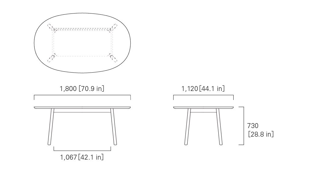 TABLE 180 (oval)
