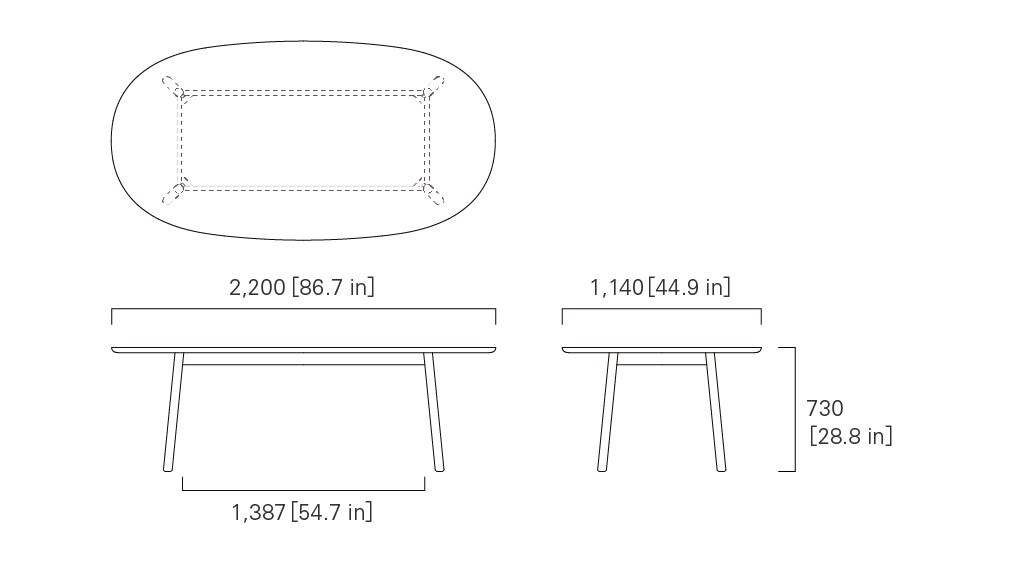 TABLE 220 (oval)