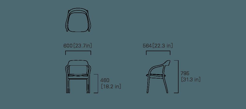 ARMCHAIR (cushioned)