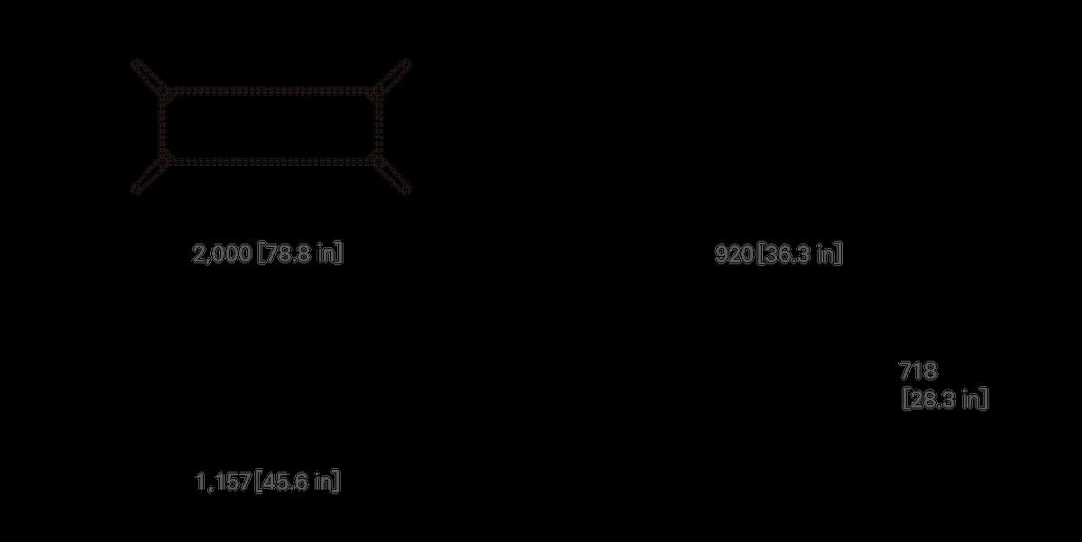 TABLE 200 (rectangular, corianⓇ top)