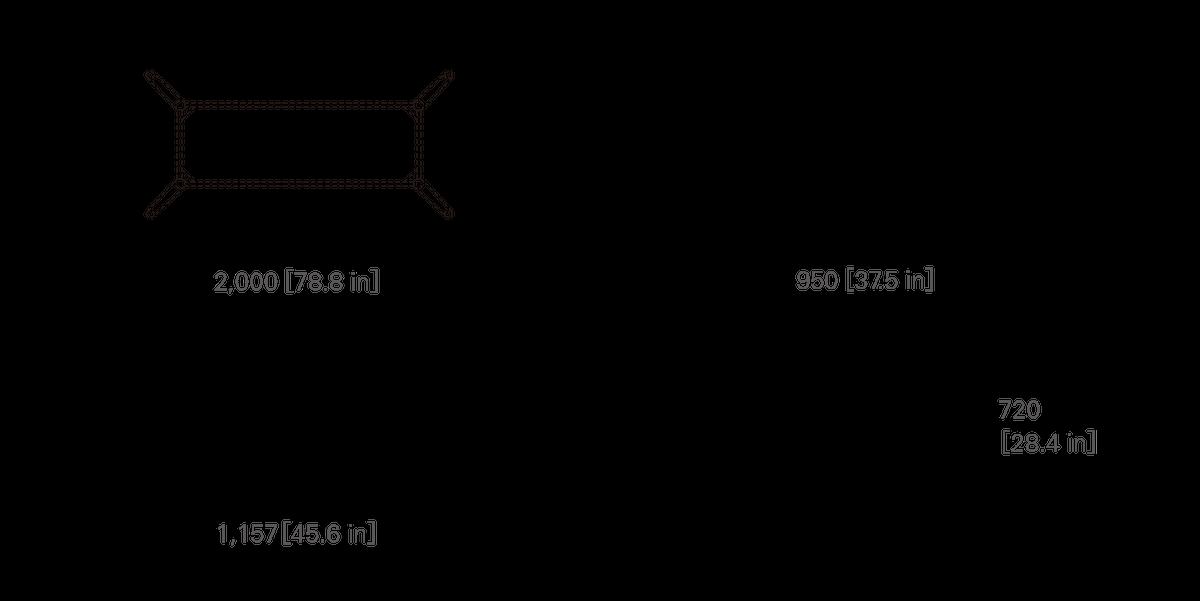 TABLE 200 (rectangular, wooden top)