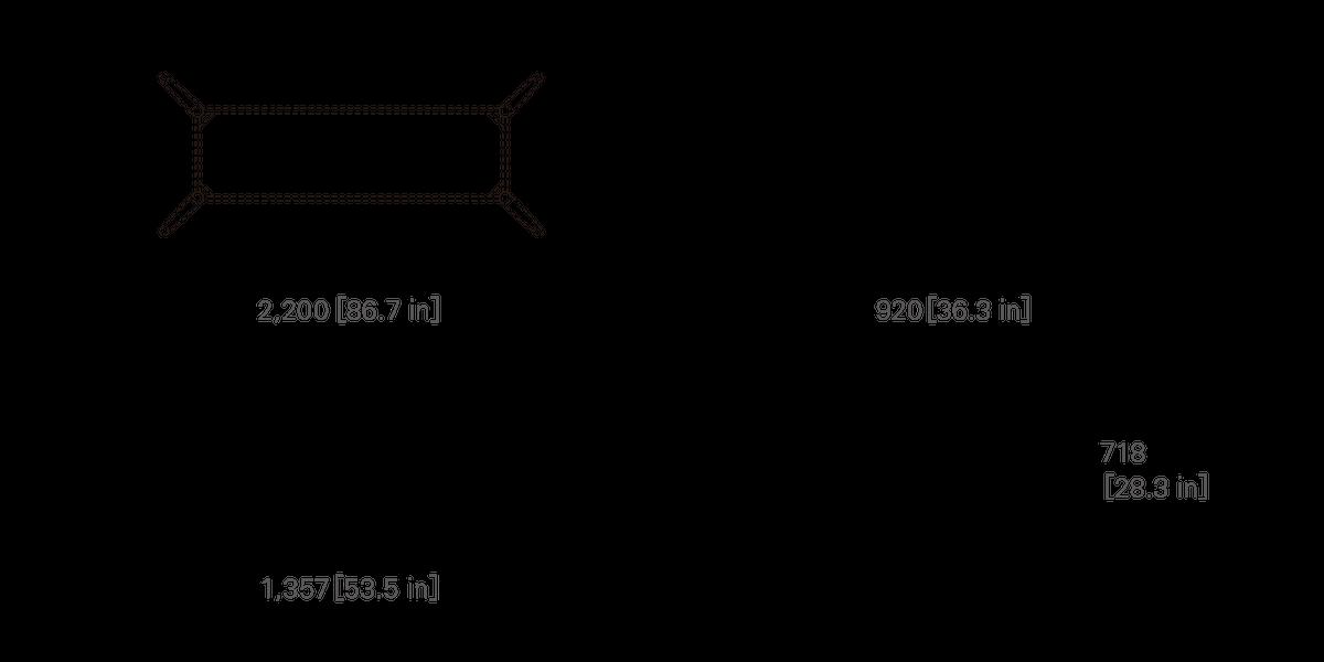 TABLE 220 (rectangular, corianⓇ top)