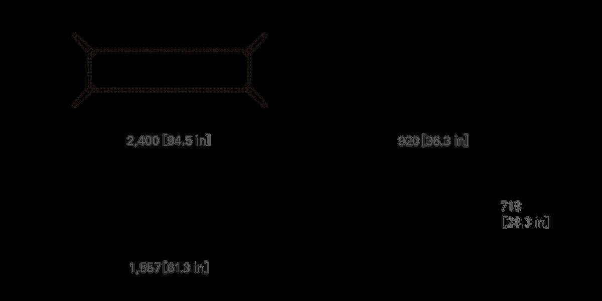 TABLE 240 (rectangular, corianⓇ top)