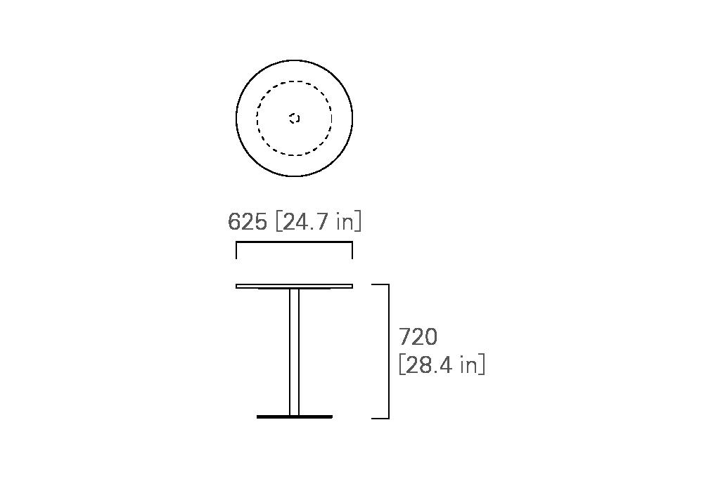 ROUND TABLE 63  (veneered top)
