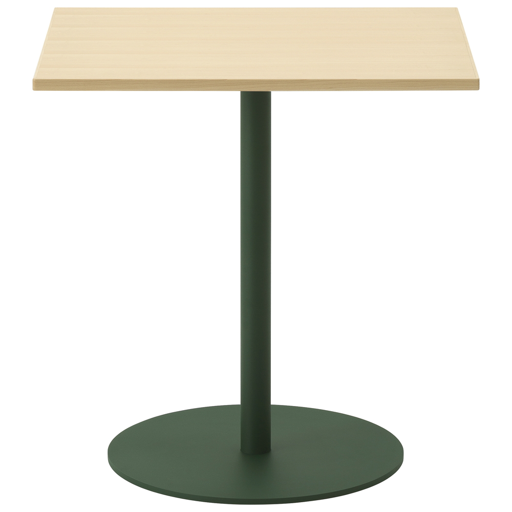 maple / urethane finish, clear / Steel: green powder coated