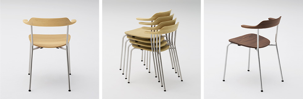 HIROSHIMA armchair stackable